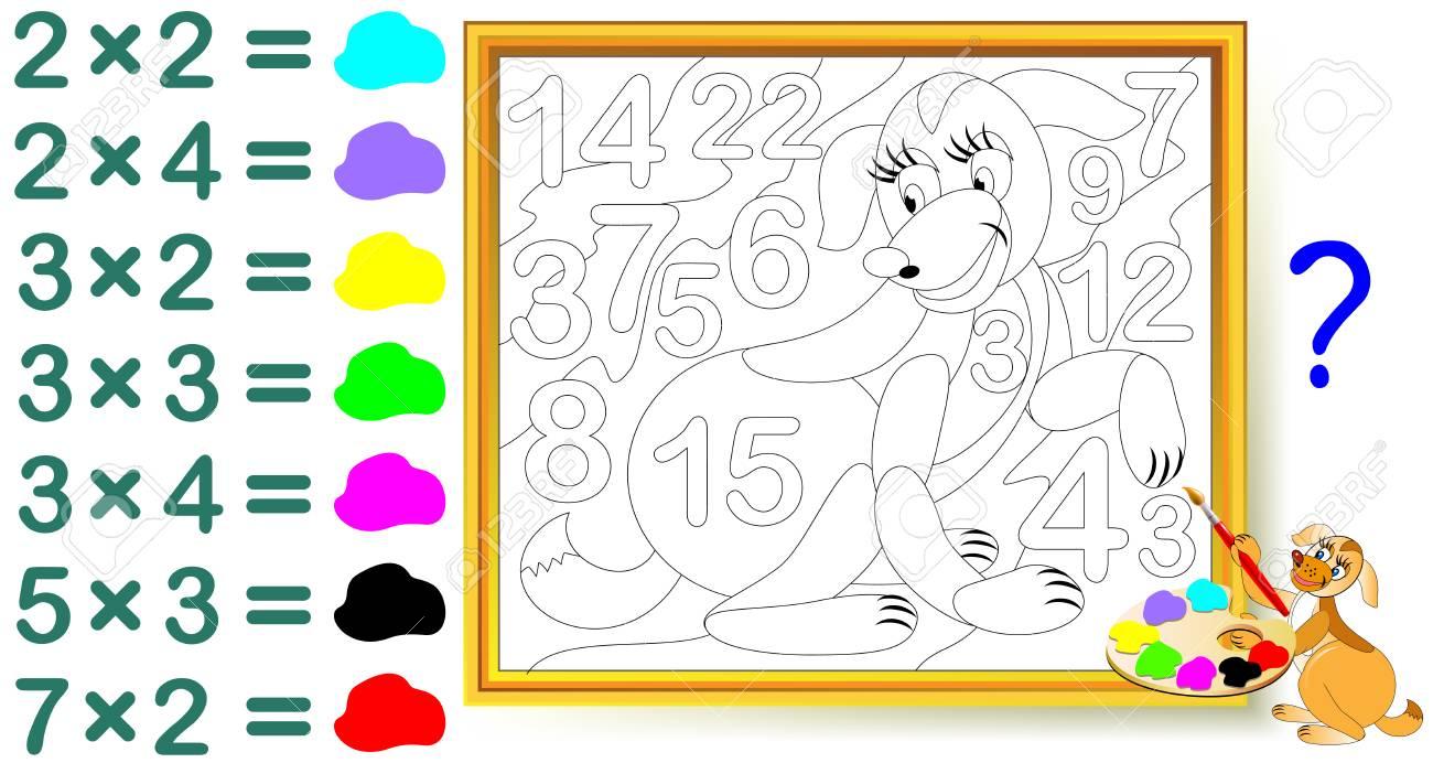 Hoja De Trabajo Con Ejercicios Para Niños Con Multiplicación ...