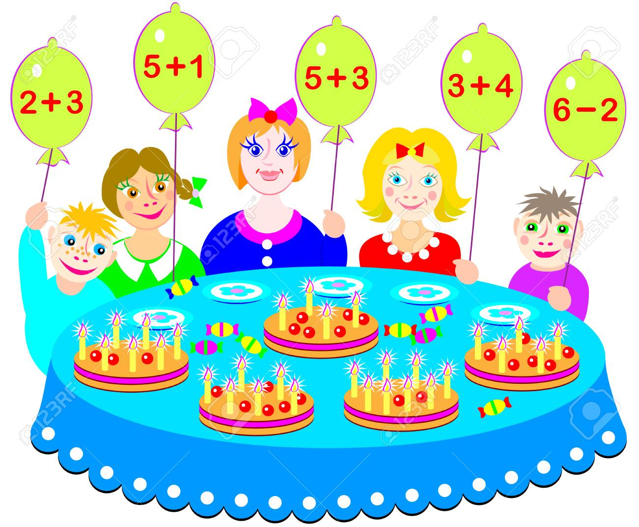 Educational Page With Exercises For Children On Addition And ...