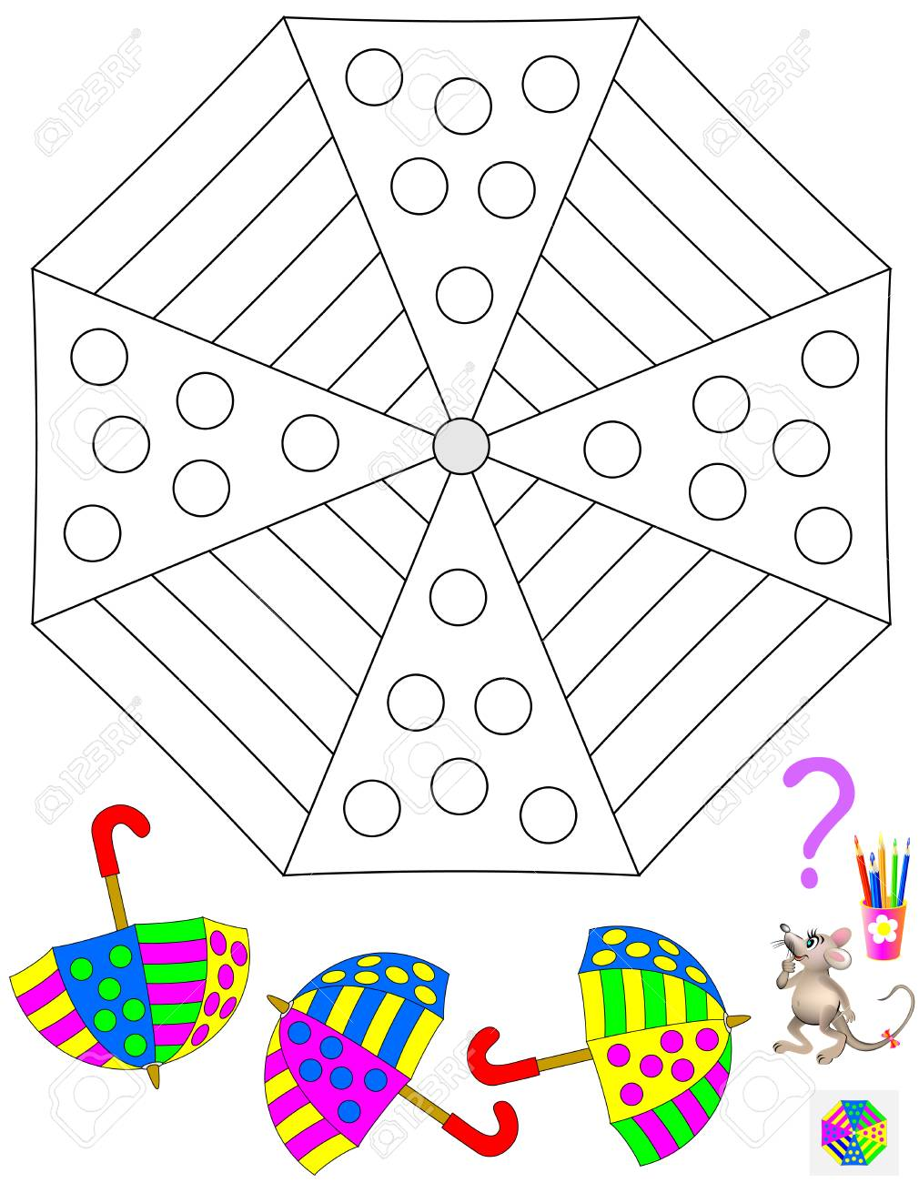 Logik Puzzle Spiel Für Kinder Und Erwachsene Müssen Sie Das Muster