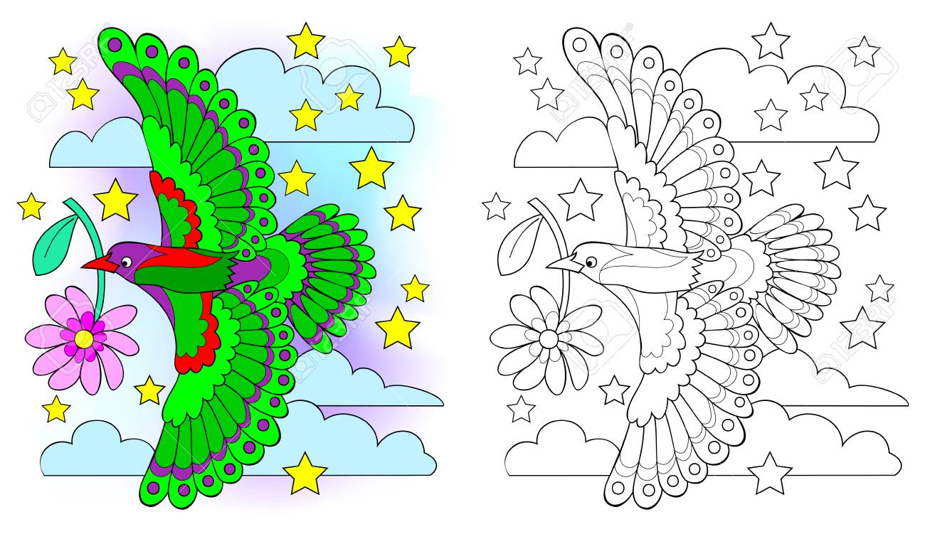 Colorful And Black And White Pattern For Coloring Drawing Of Royalty Free Cliparts Vectors And Stock Illustration Image 106226901
