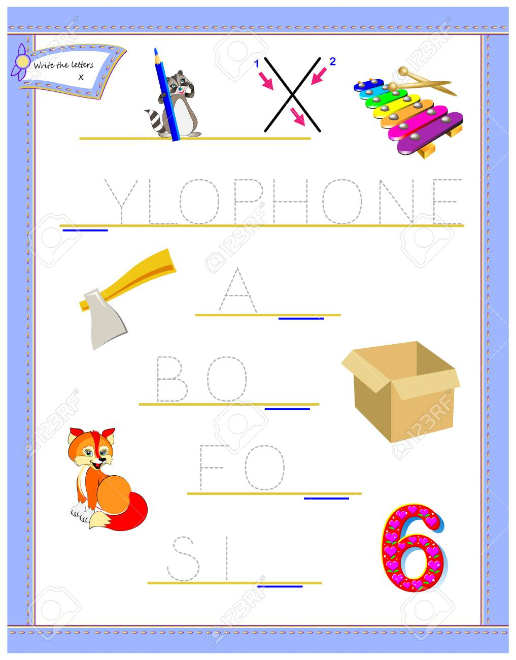 image relating to Letter X Printable named Tracing letter X for research English alphabet. Printable worksheet..