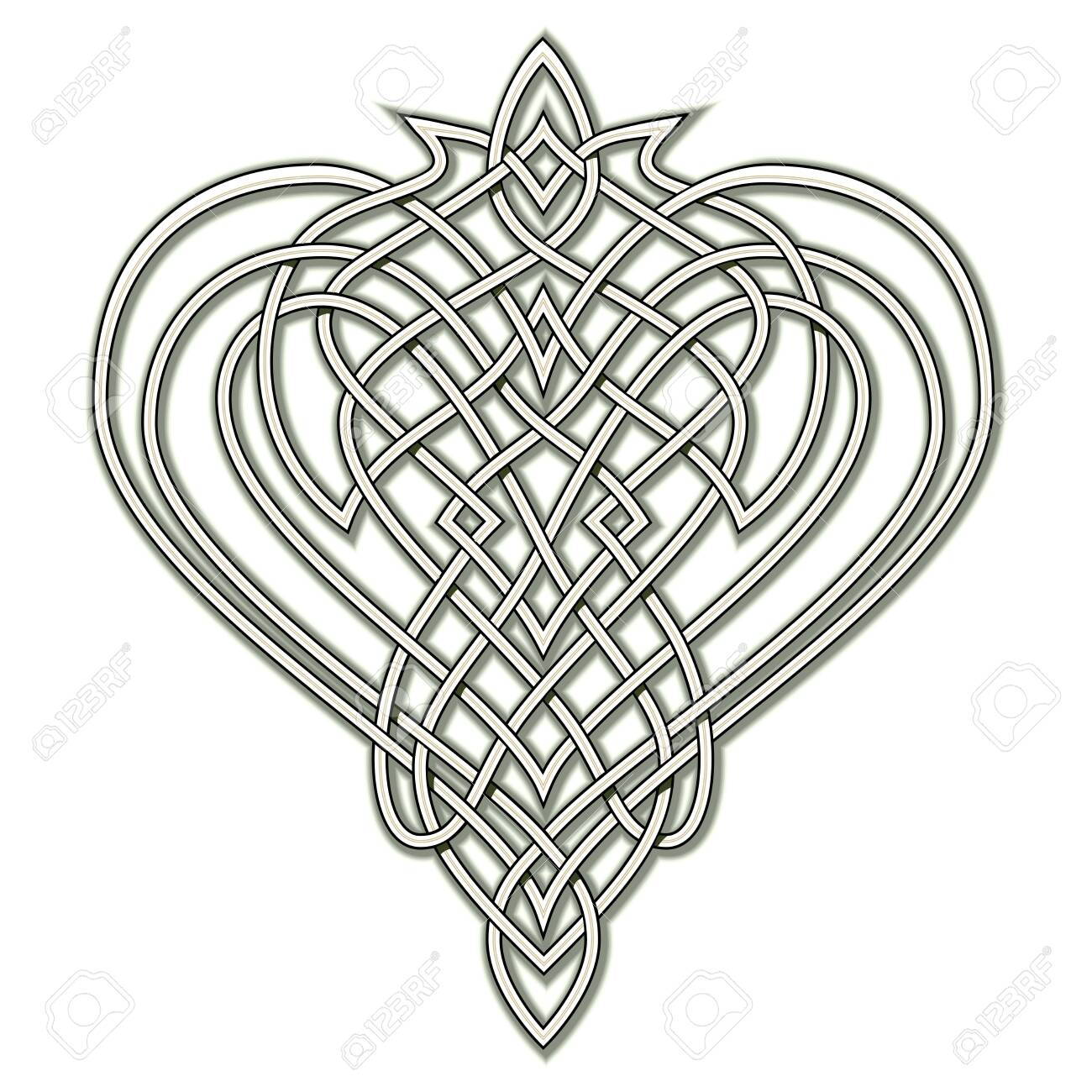 photograph relating to Printable Celtic Knot Patterns identified as Myth drawing of Celtic prominent ornament with interweaving..
