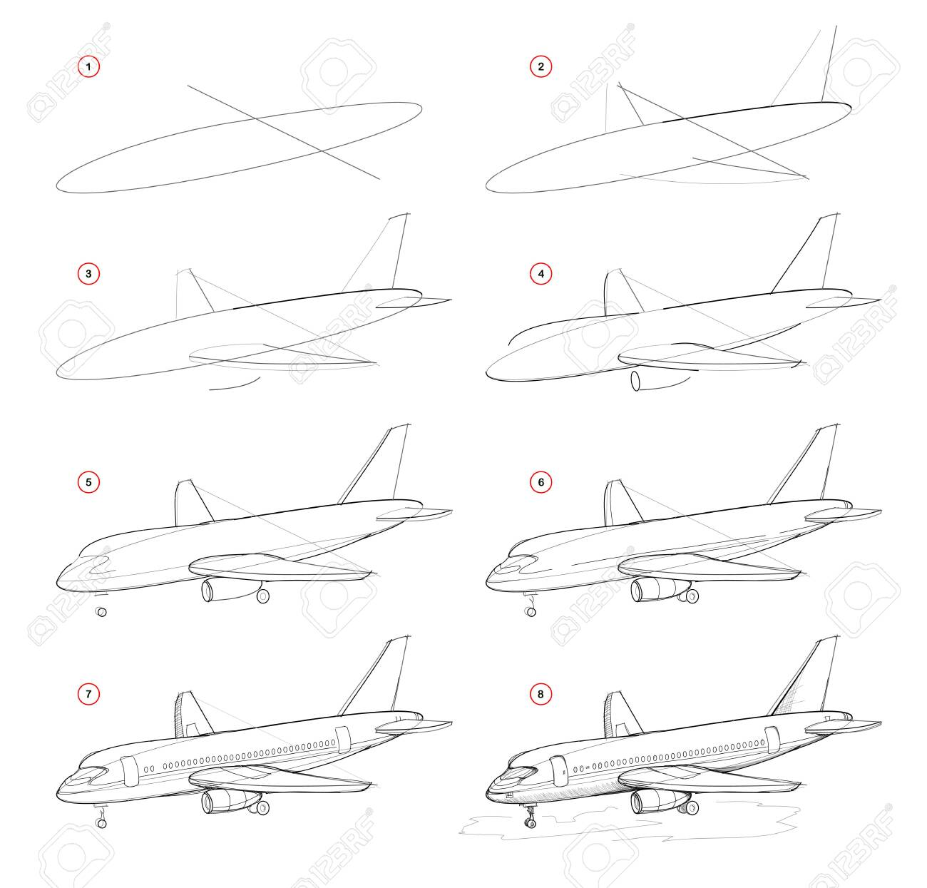 Creation Step By Step Pencil Drawing Page Shows How To Learn