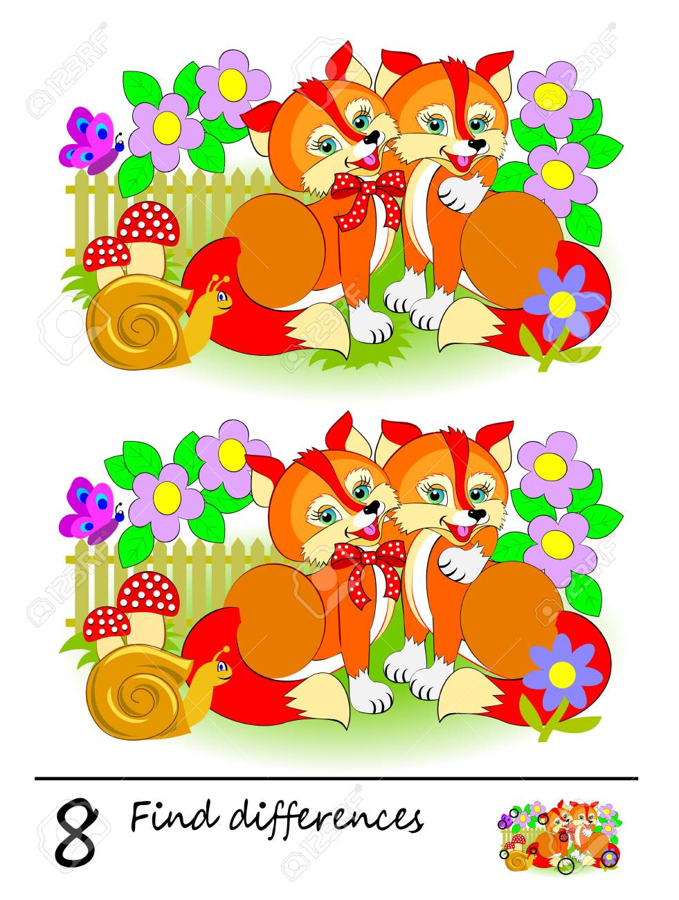 photo regarding Find the Differences Printable called Logic puzzle activity for little ones. Will need toward uncover 8 variations. Printable..