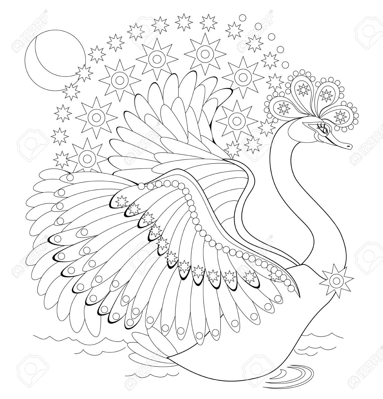 - Black And White Page For Baby Coloring Book. Illustration Of