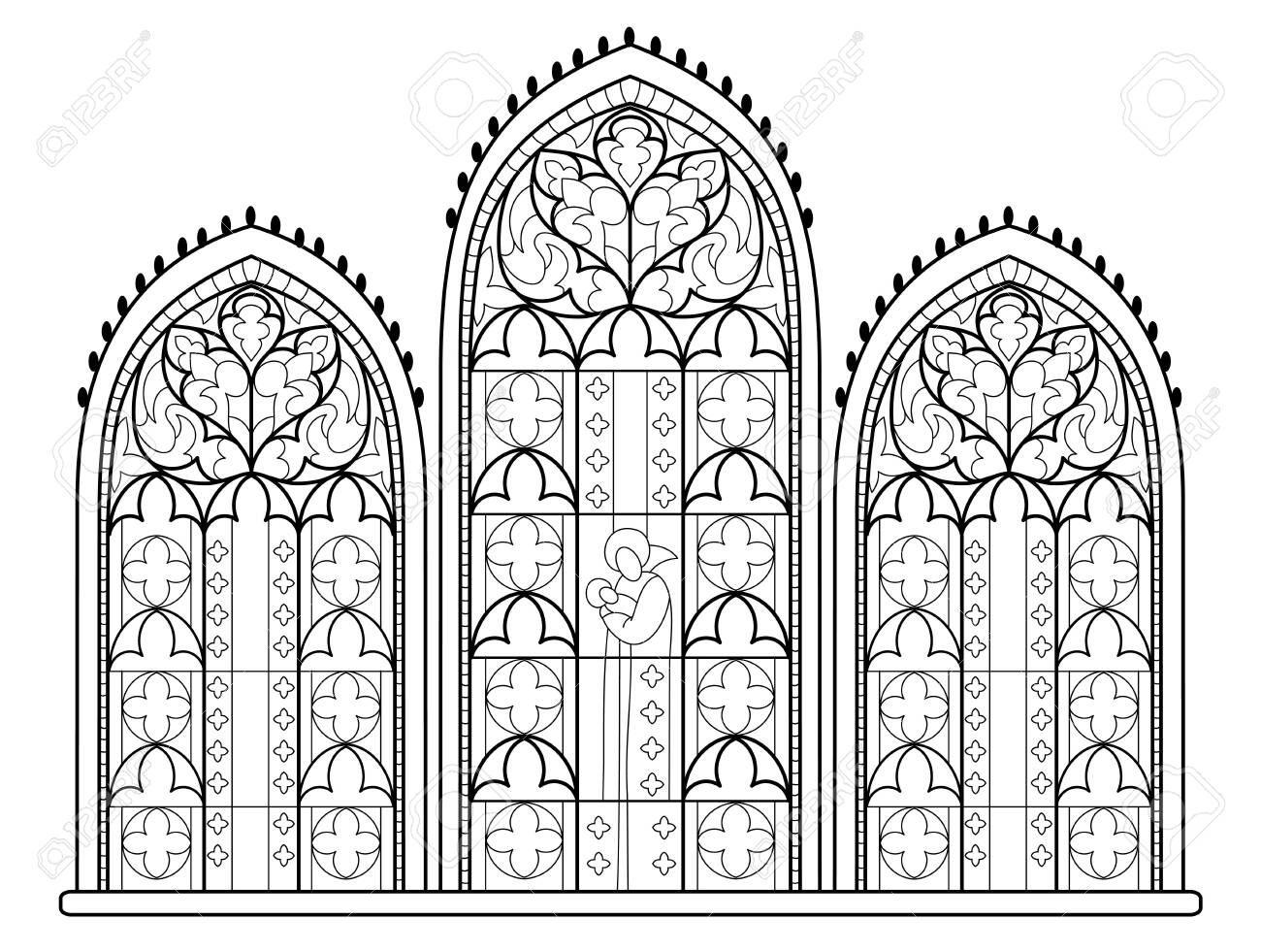 Gothic Coloring Book