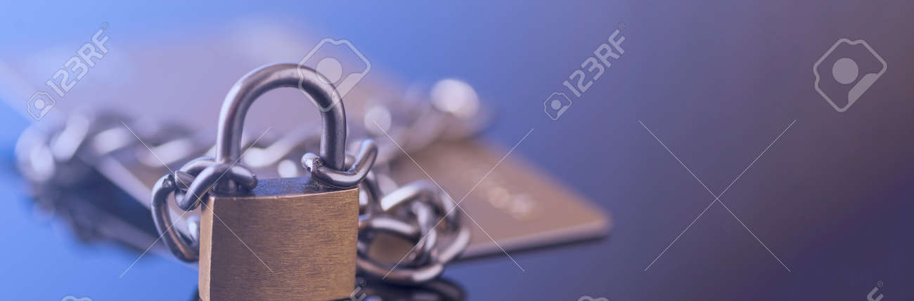 Credit card security, safe trading. Credit card lock chain. - 163050578