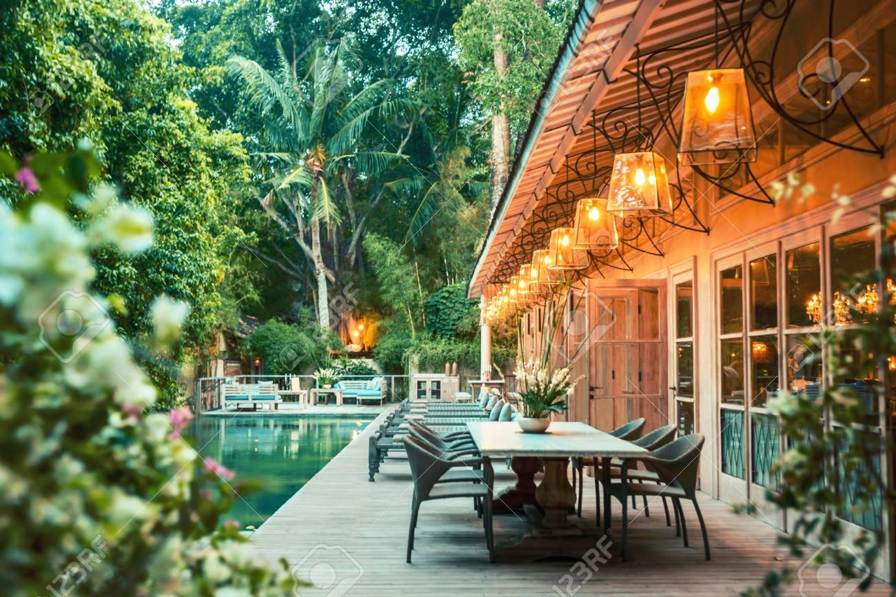 Interior Of Luxury Tropical Villa Bali Indonesia Very Beautiful