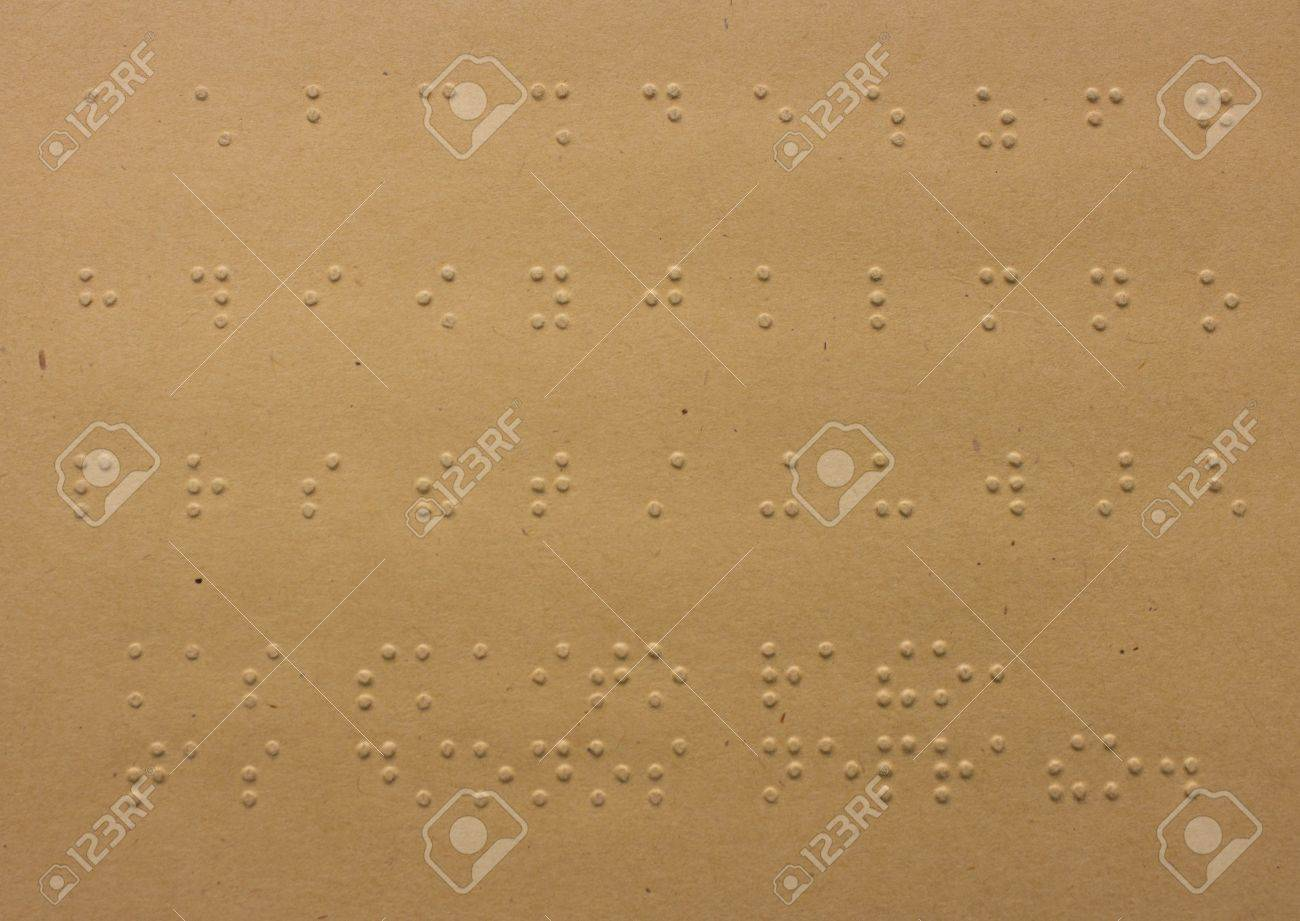 Braille dots - reading without seeing, close up of braille alphabet Stock Photo - 13090836