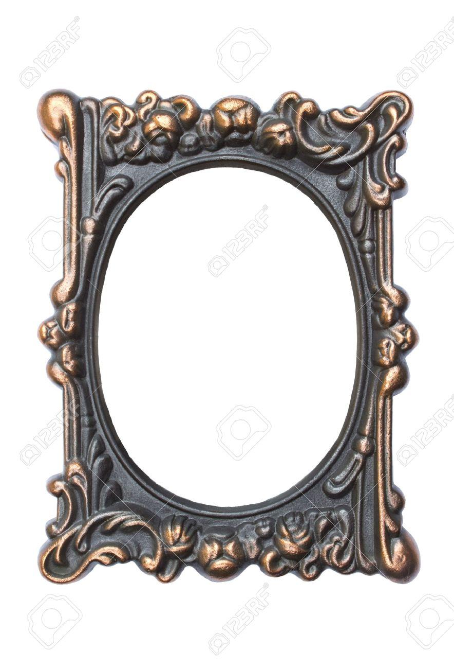 Ornate Vintage Frame Isolated On White Background Stock Photo ...