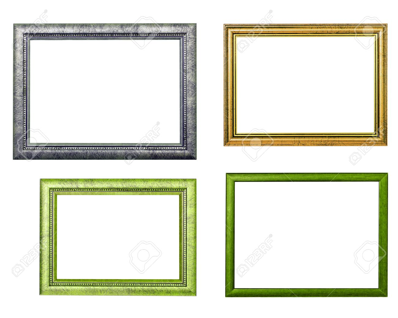 Four Frames On White Background Stock Photo, Picture And Royalty ...