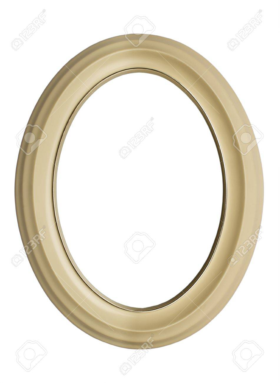 White Oval Frame Isolated On White Background Stock Photo, Picture ...