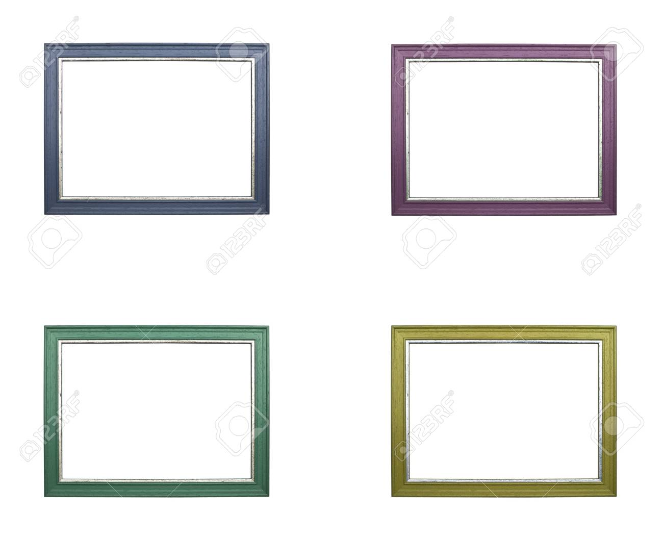 535459c32904 the set of colorful frames isolated on white background Stock Photo -  17708808