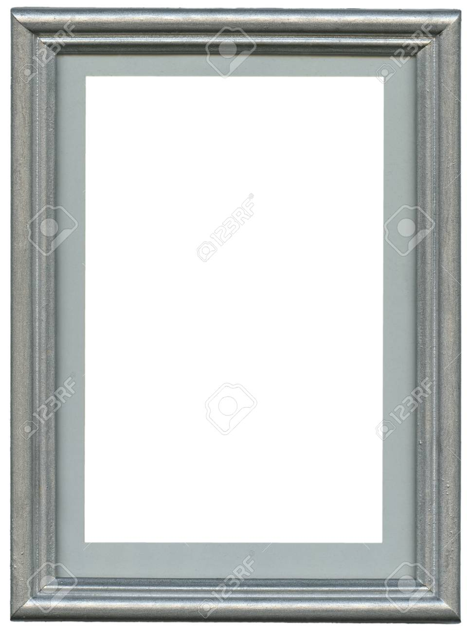 silver frame. Isolated over white background with clipping path Stock Photo - 22744115