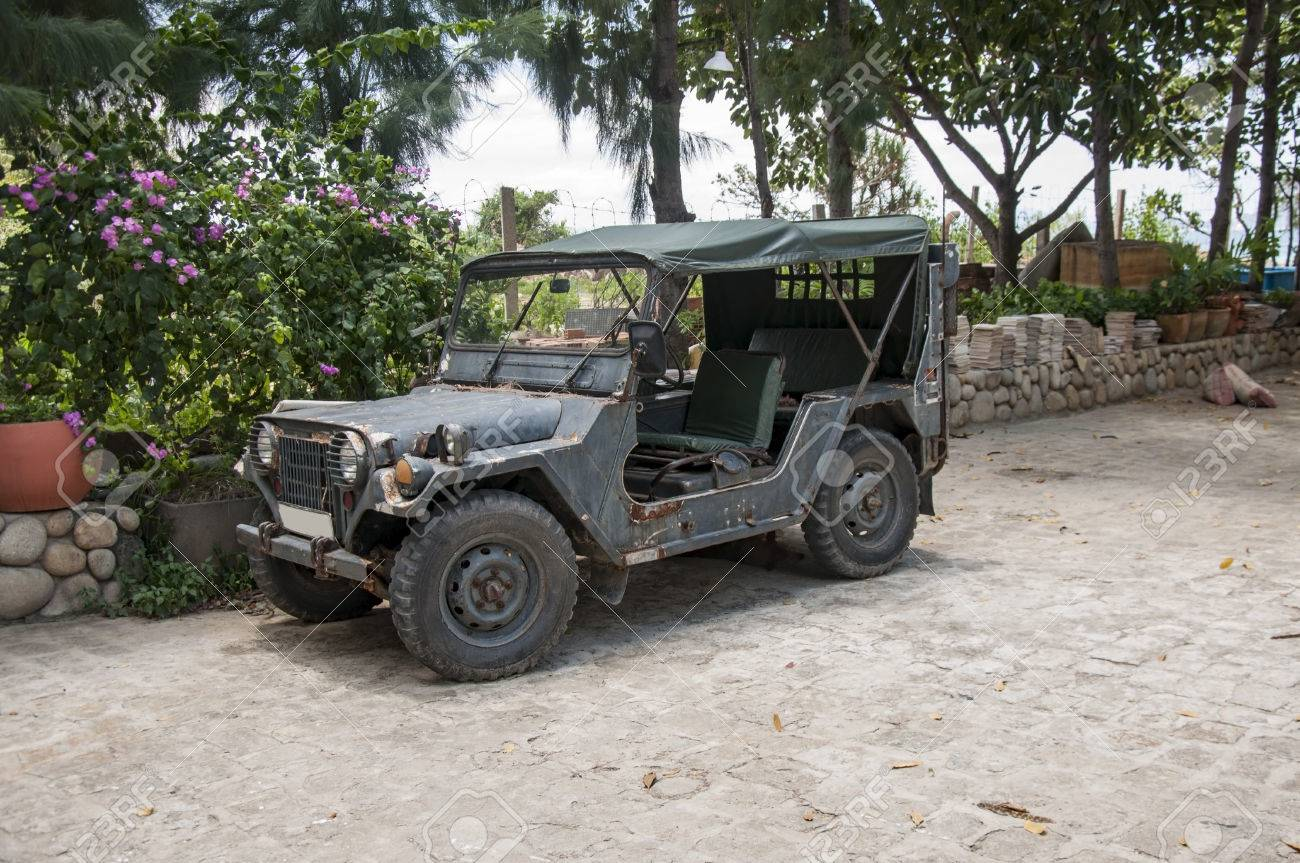 Old Car Jeep Willys Left In Vietnam Toning Stock Photo Picture And Royalty Free Image Image 81507613