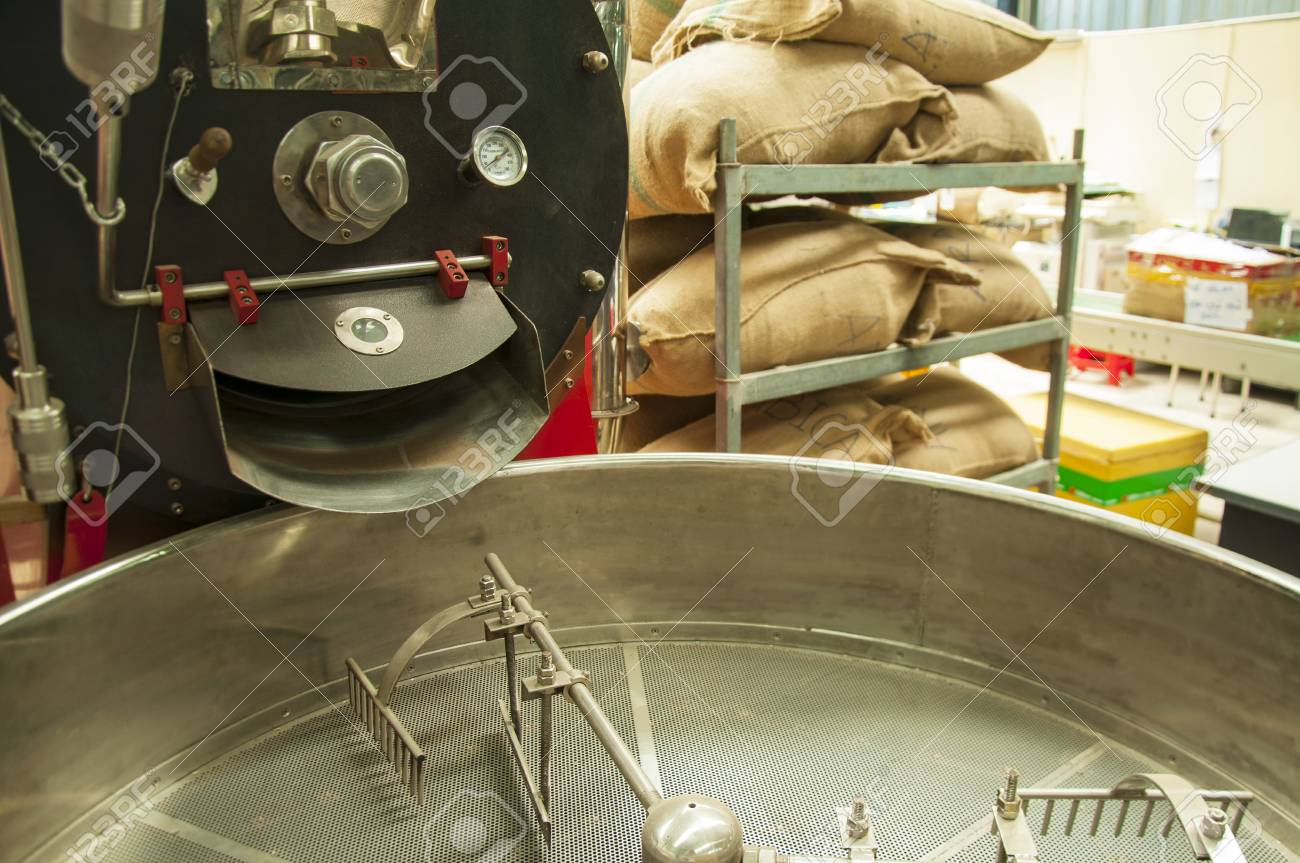 Machine For Sorting Coffee Beans At A Coffee Factory