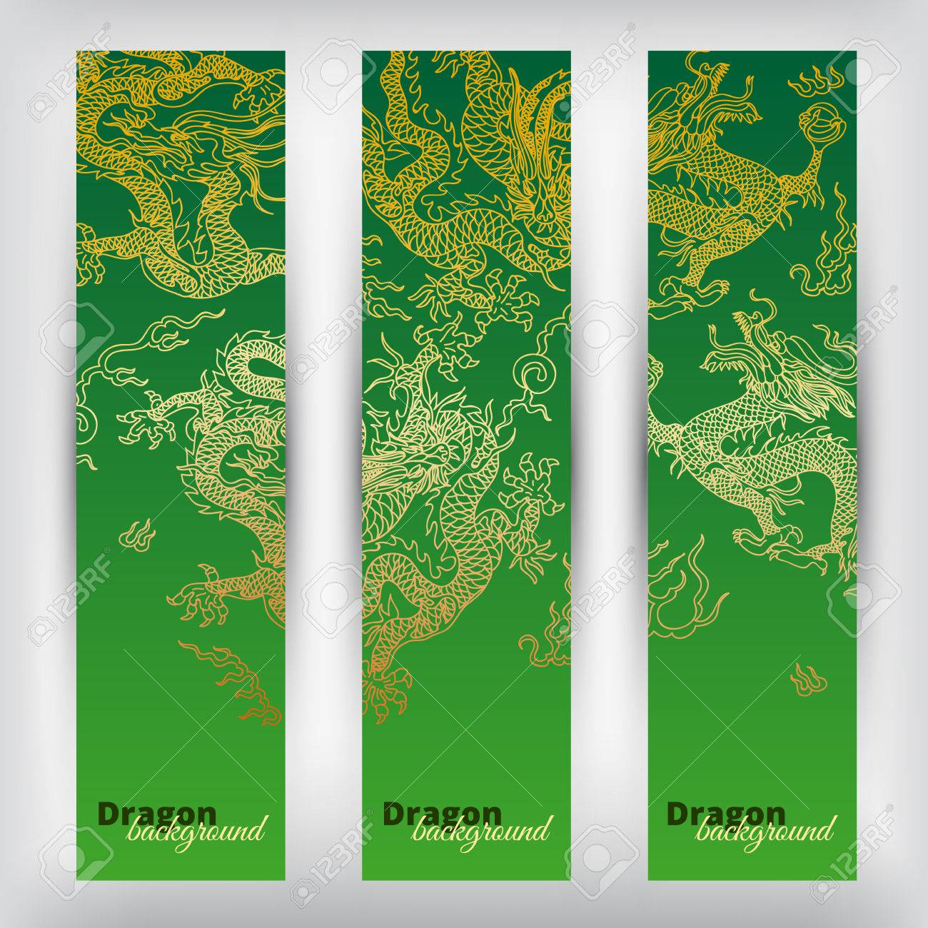 Green Dragons Banners Premium Banners