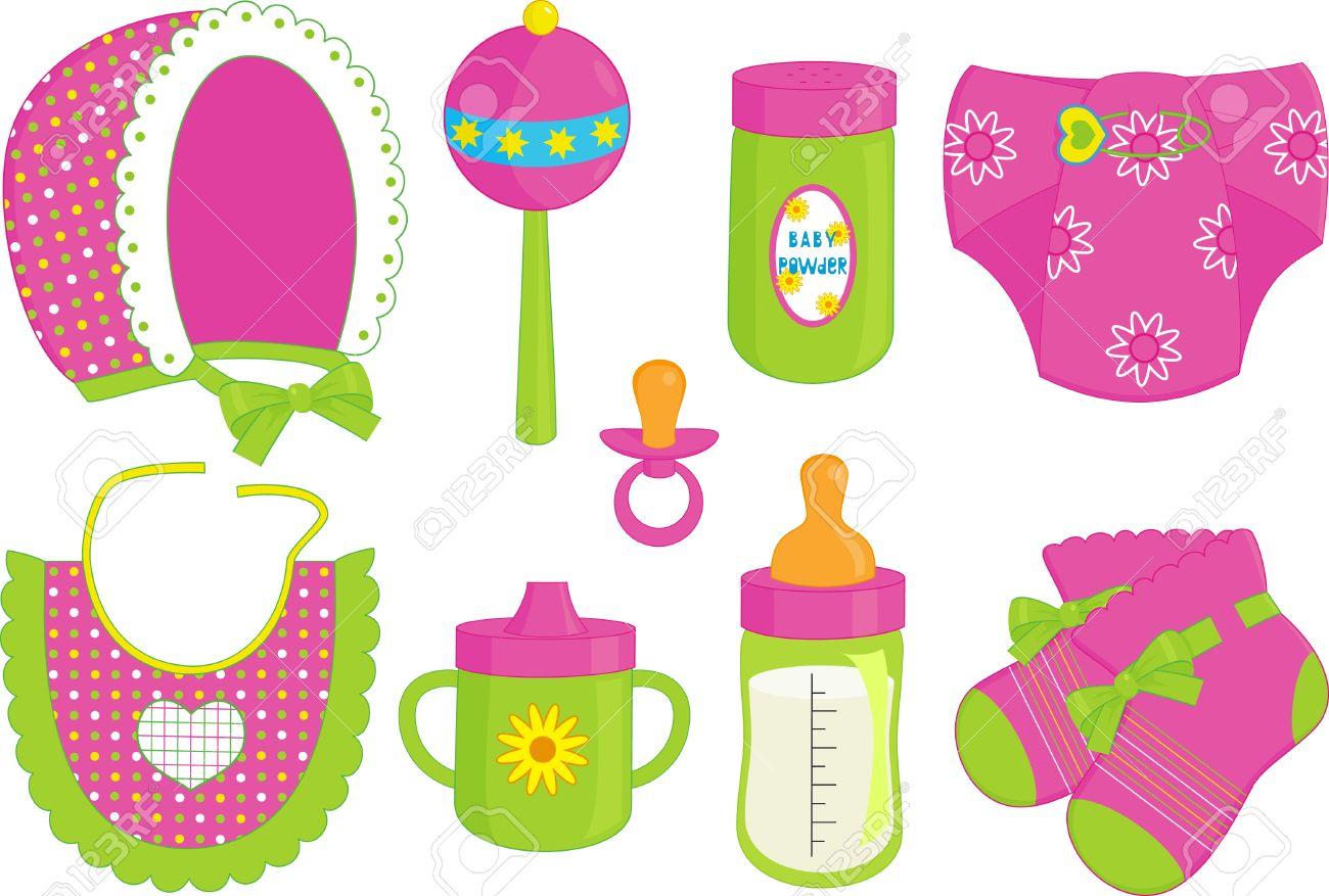 Foto de archivo una ilustración de diferentes accesorios para bebé jpg  1300x877 Asesorios accesorios bebes 1f10e4d3d49c