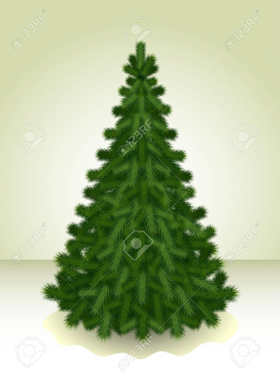 Illustration of the Сhristmas tree ready to decorate Stock Vector - 10996728