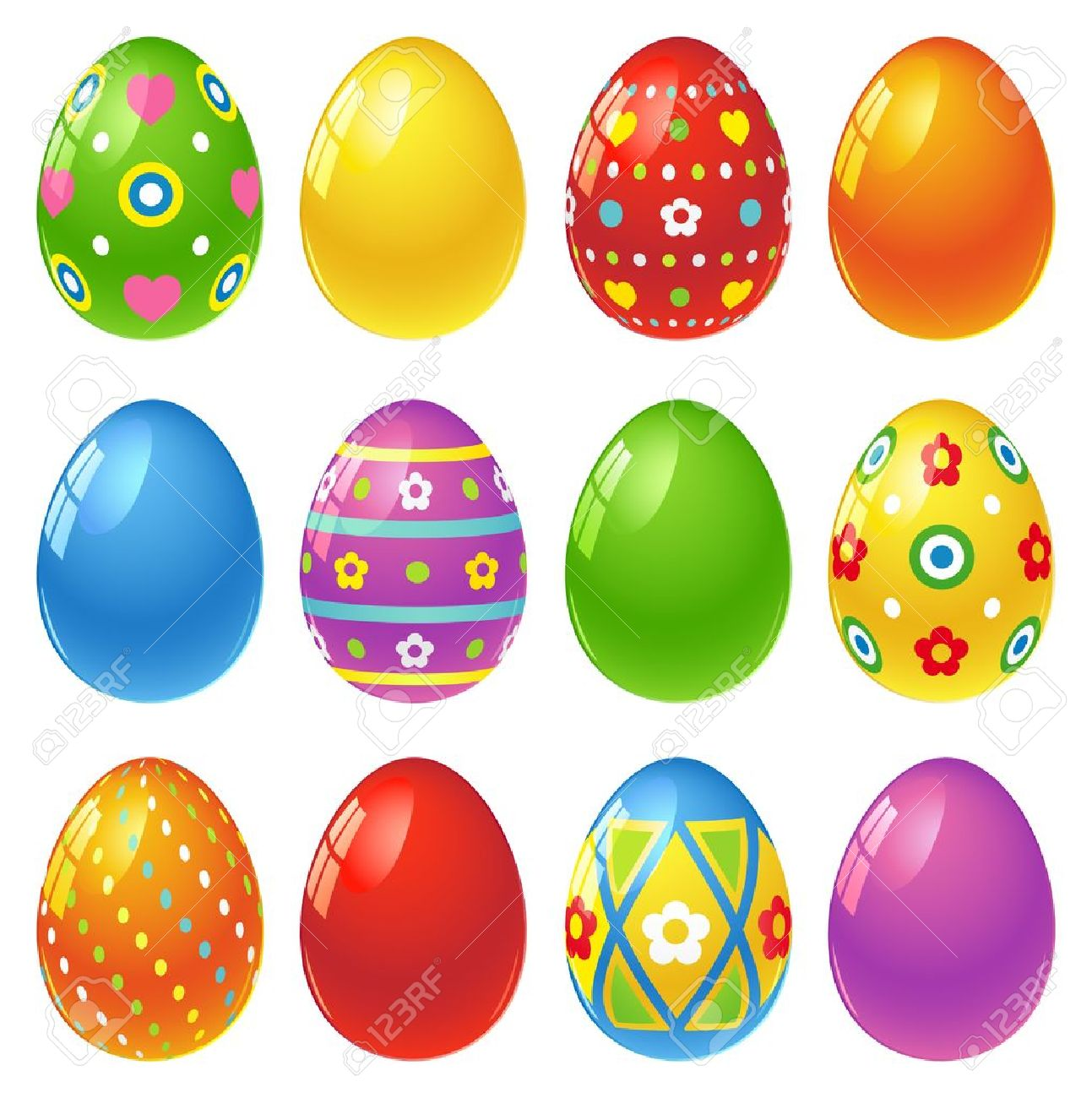 Set of colourful Easter eggs Stock Vector - 12869413