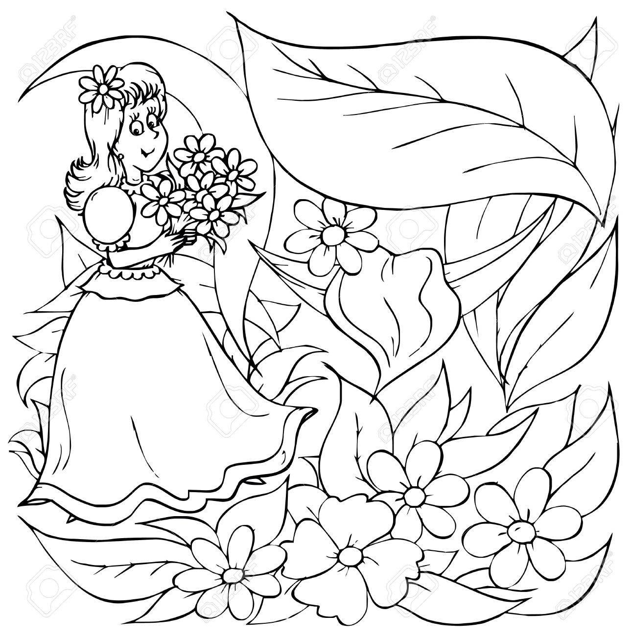 little with flowers fairy tale u201cthumbelina u201d stock photo