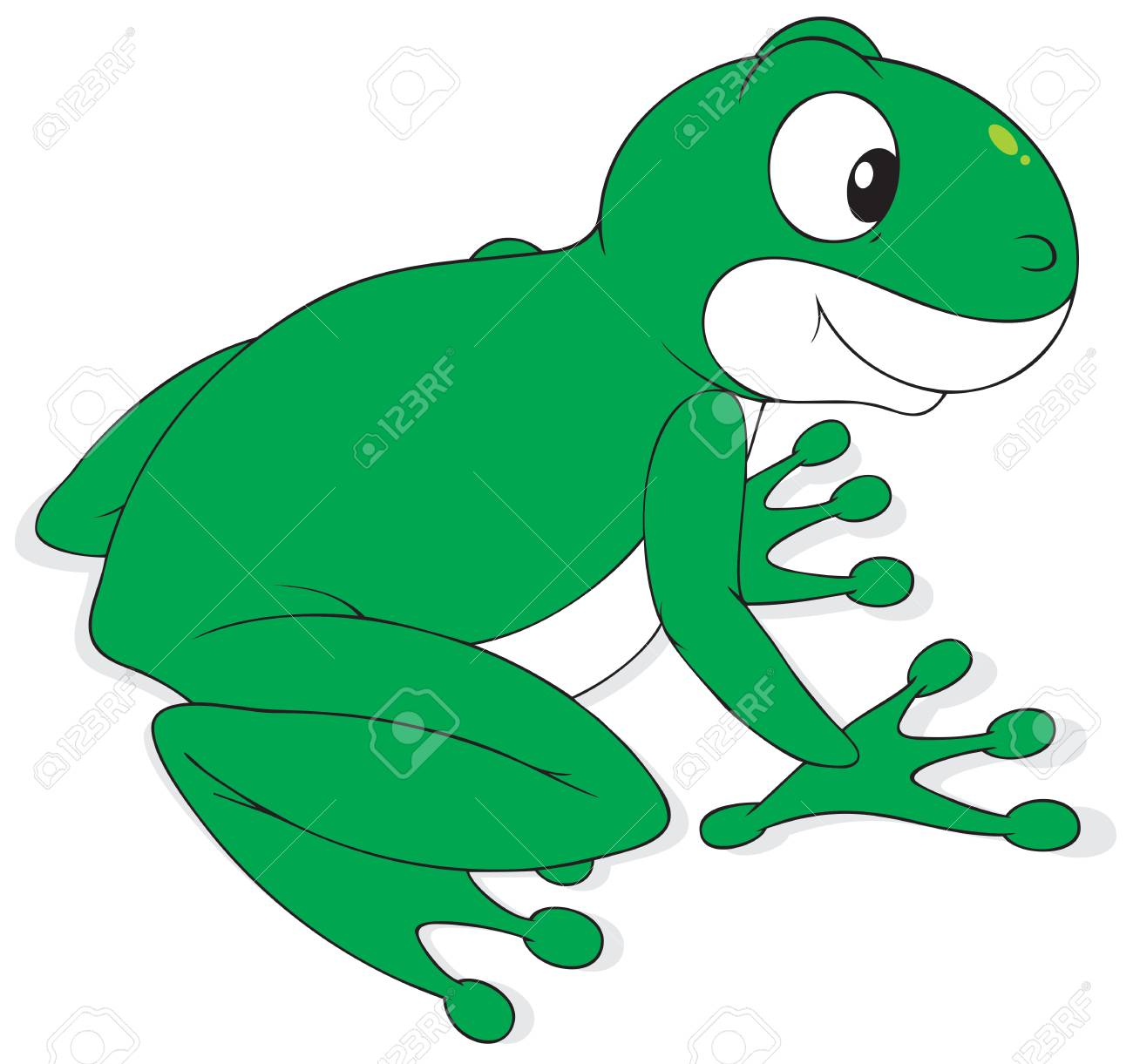 Green frog Stock Vector - 6530940