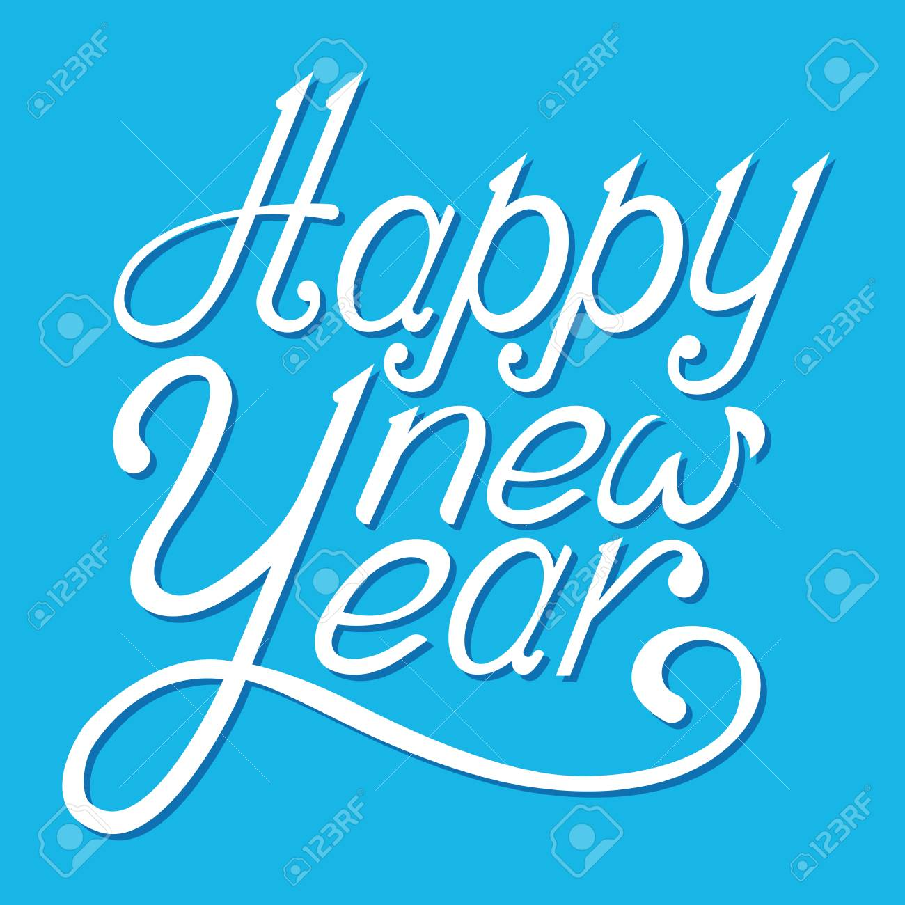 Happy New Year Lettering Design 9