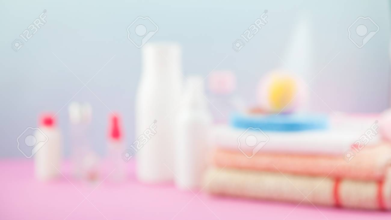 Bathroom Accessories - Towels And Shampoos,bath Foam, Cream On ...