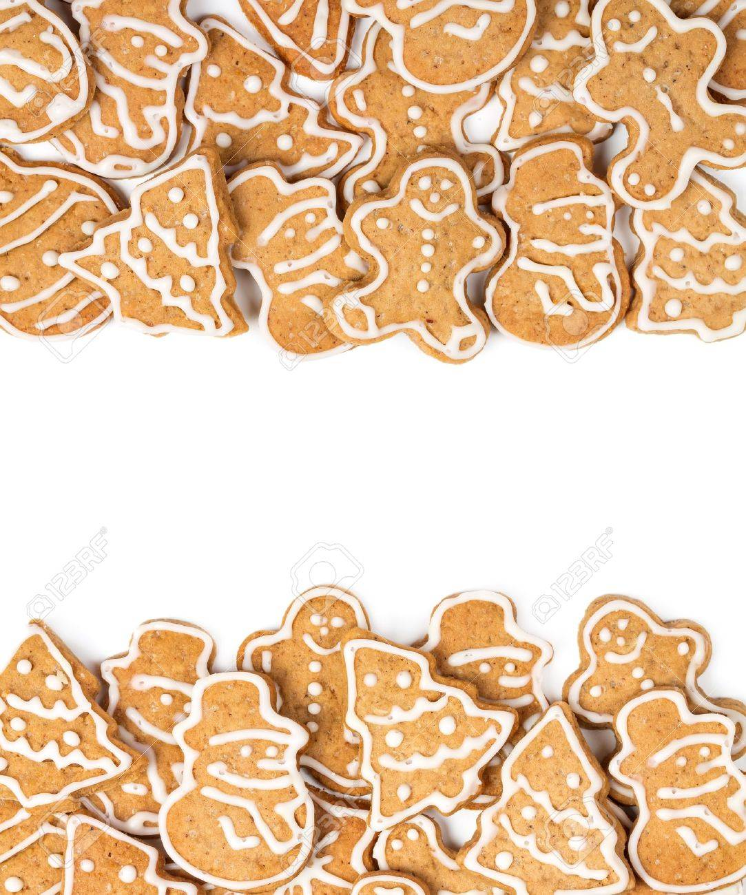 Christmas Cookies Different Form On A White Background Stock Photo ...