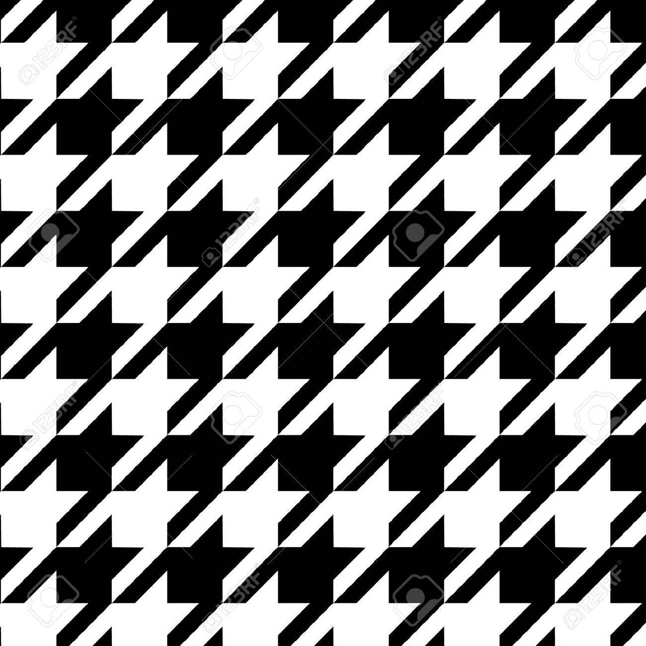 Seamless black and white checkered texture stock images image - Houndstooth Seamless Pattern Black And White Stock Vector 14823776