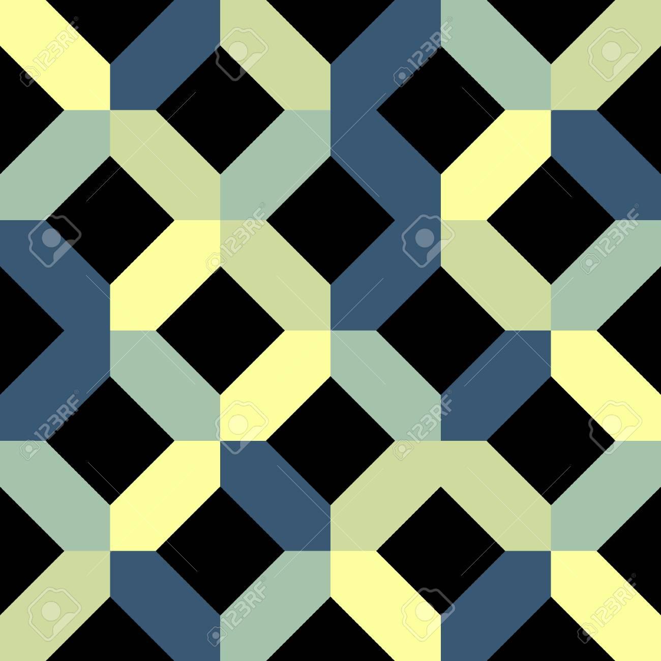 Geometric seamless pattern on black, Stock Vector - 14823800