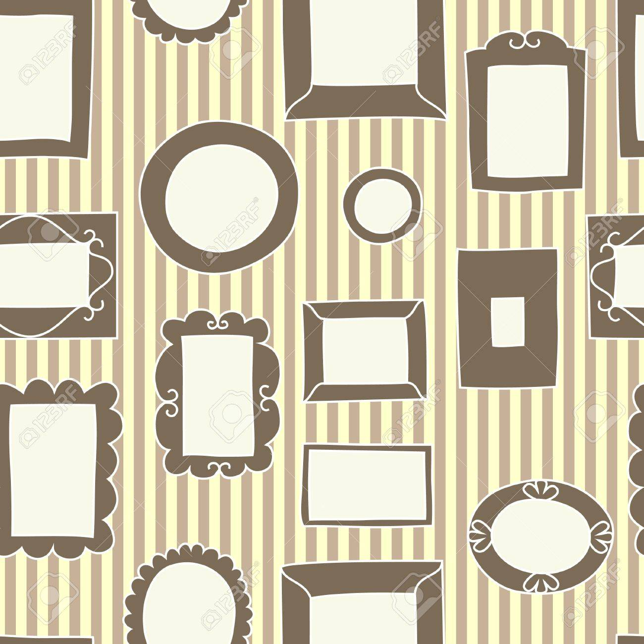 Frames on the wall seamless pattern, vector Stock Vector - 15191445