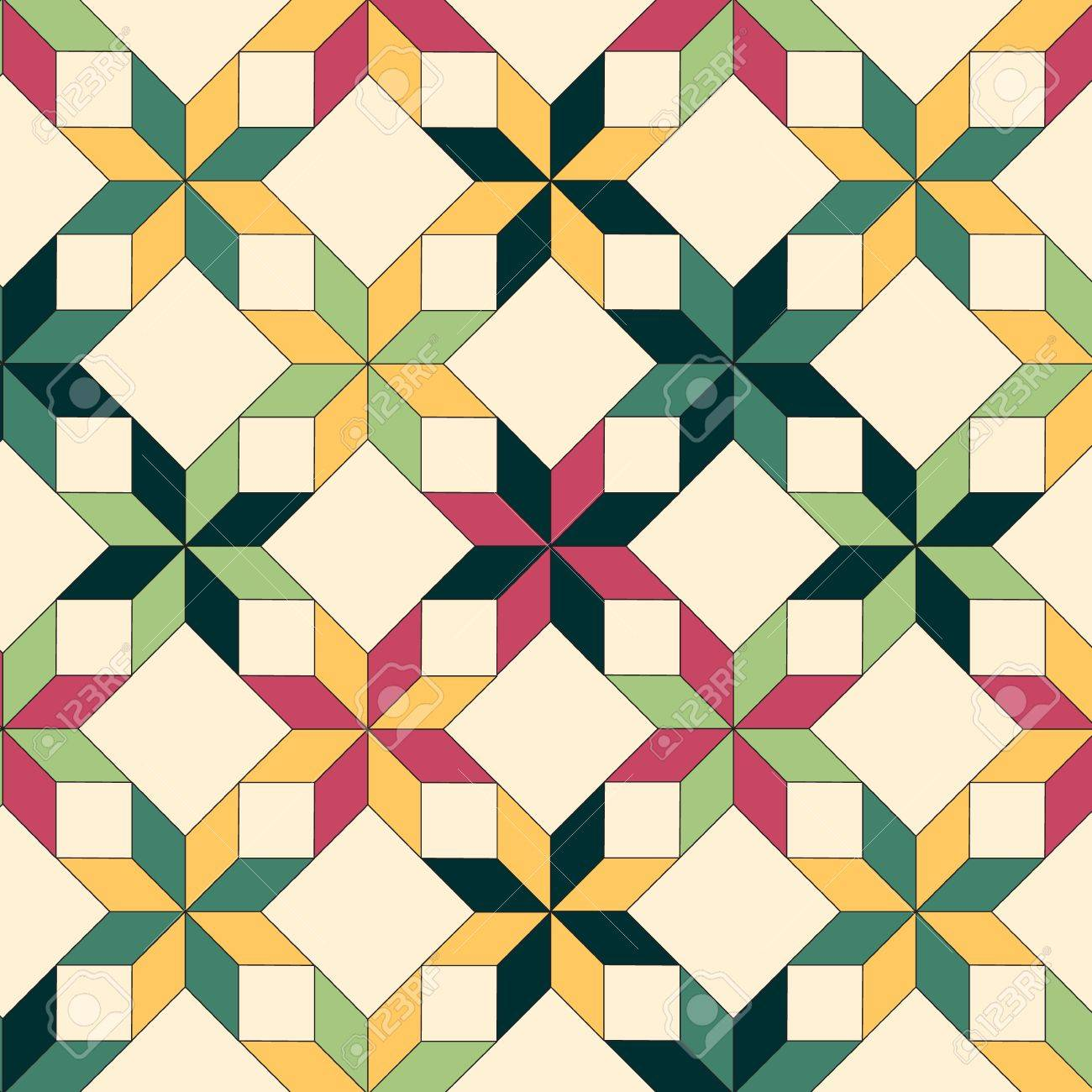 Quilt seamless pattern Stock Vector - 15258915