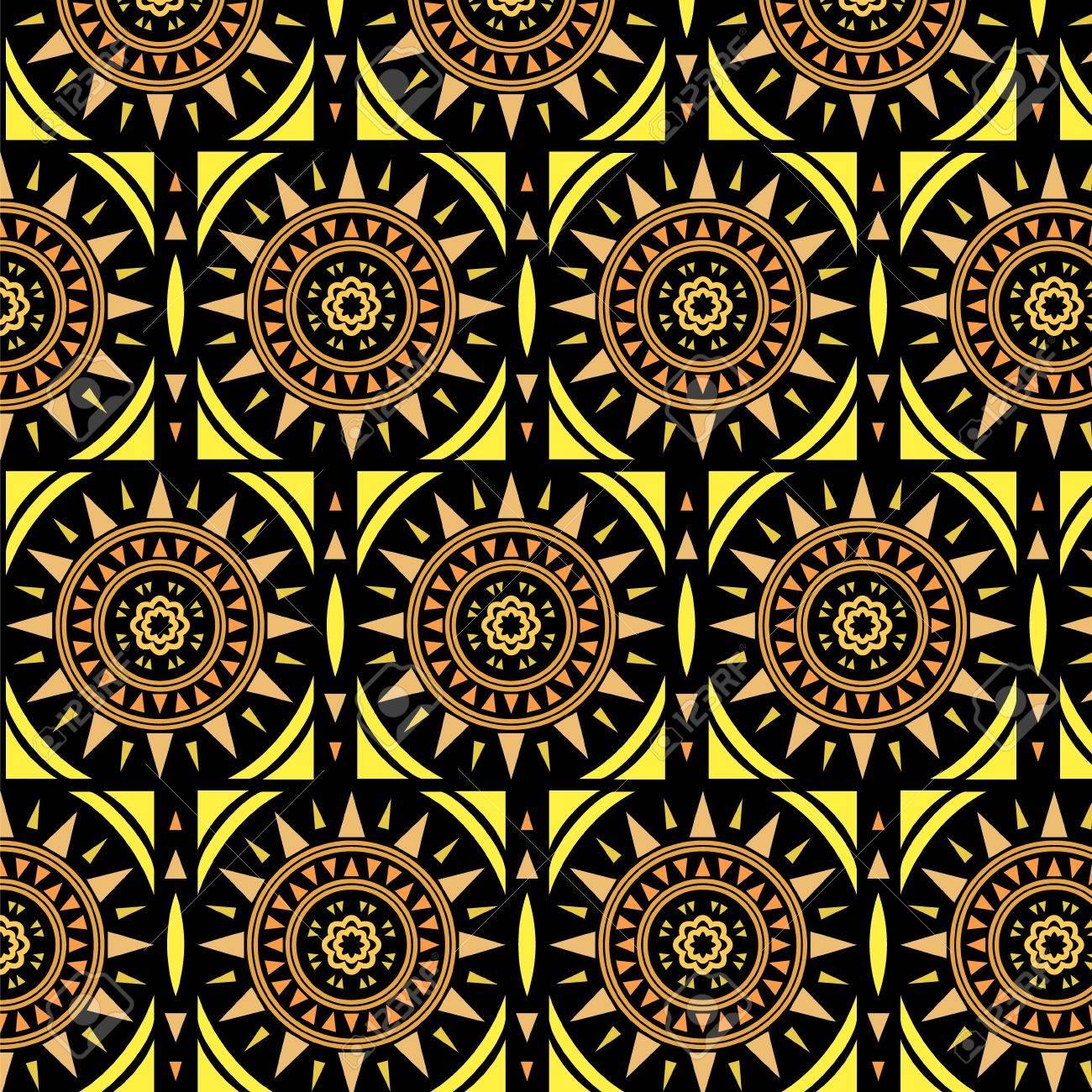 Moroccan tile solar seamless pattern, Stock Vector - 15608470