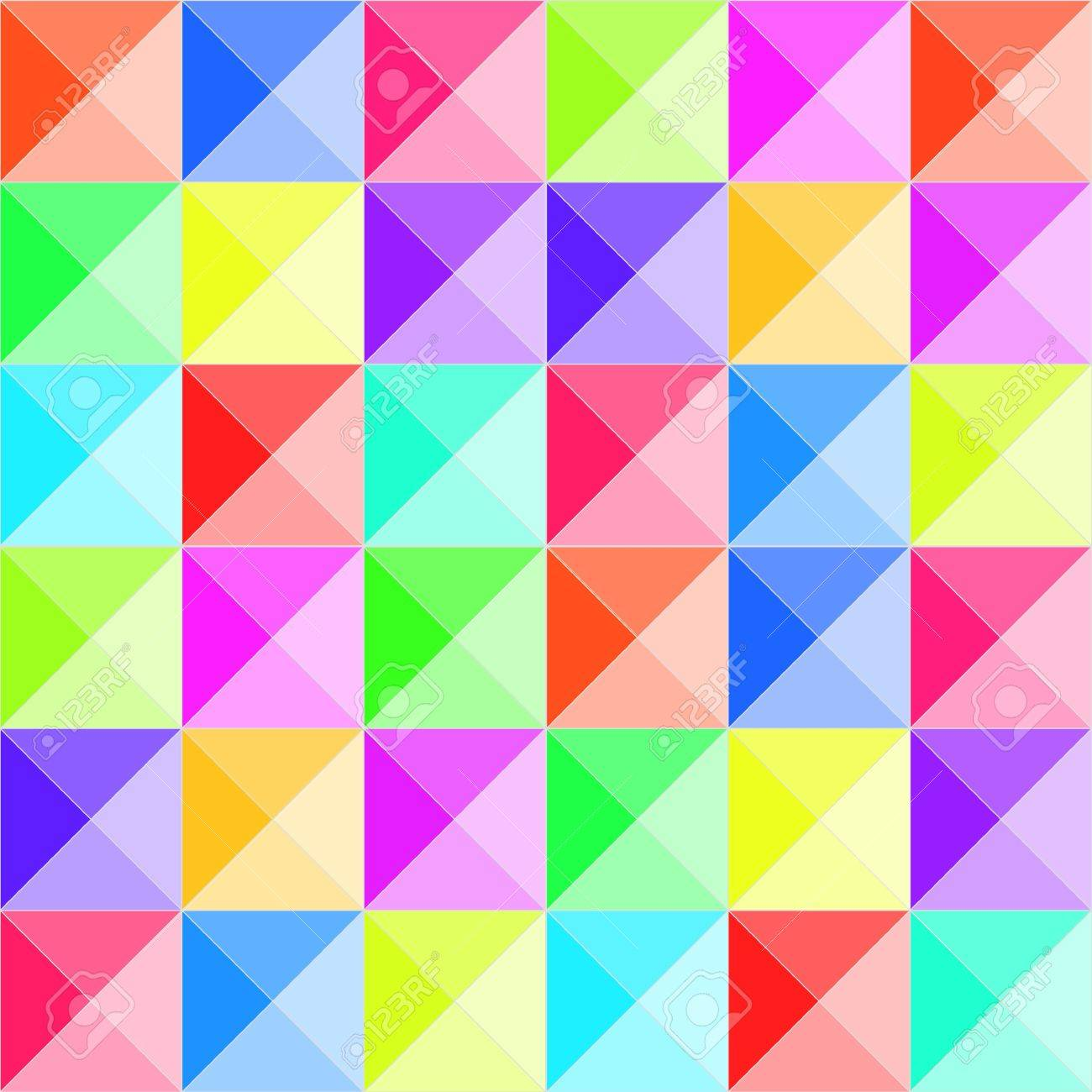 Colorful pyramid relief seamless pattern Stock Vector - 15696028
