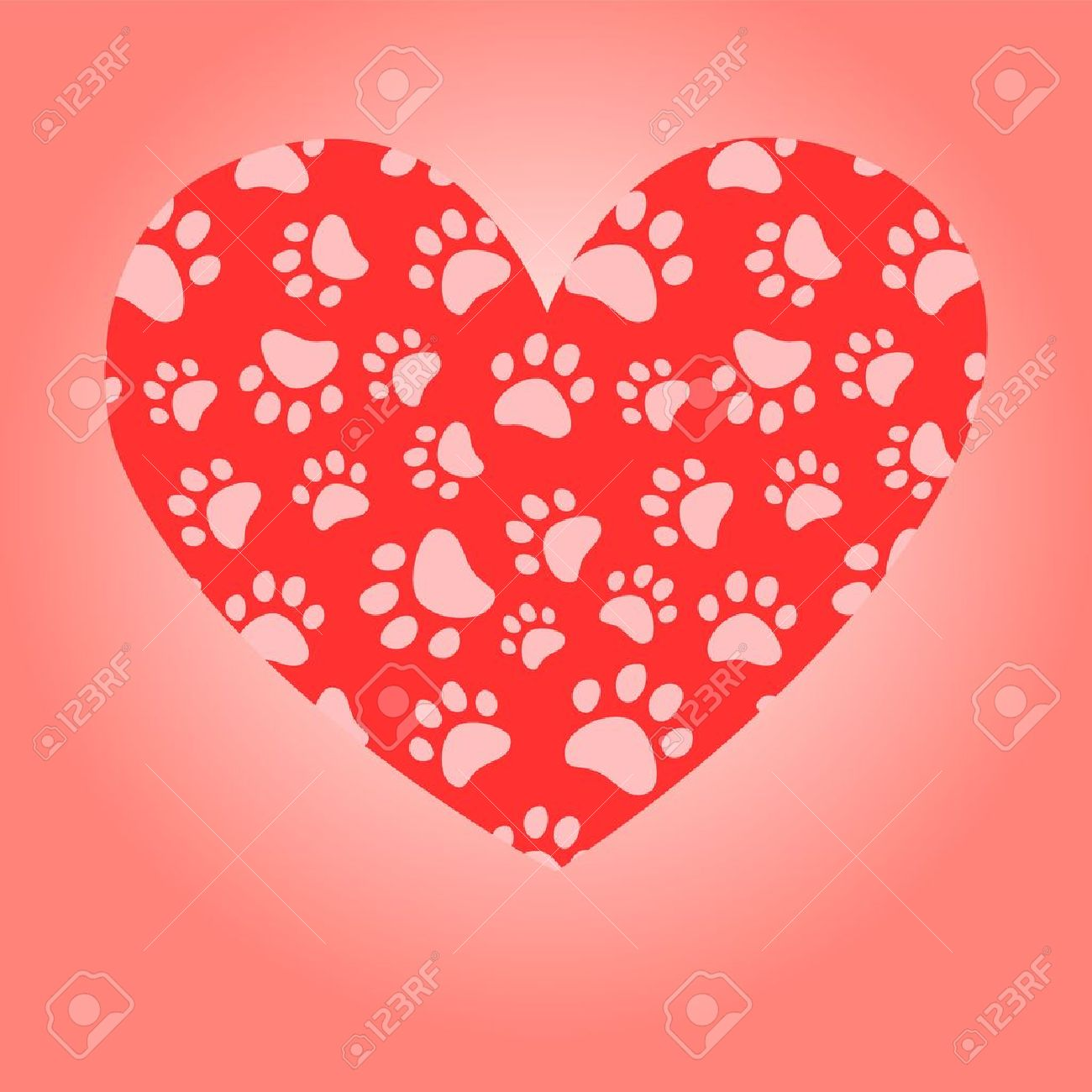 2 336 paw print heart cliparts stock vector and royalty free paw