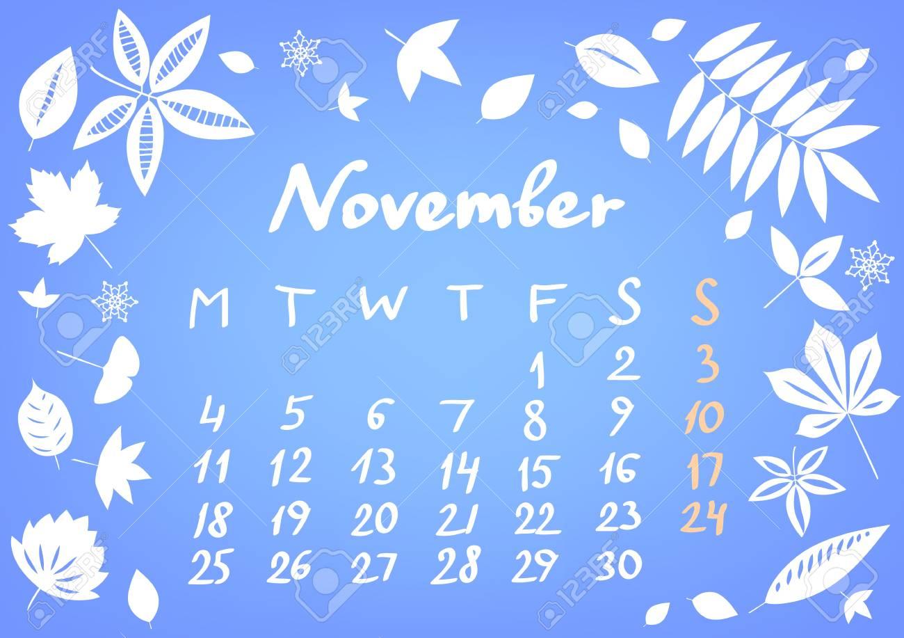 November 2013 calendar sheet Stock Vector - 17364711