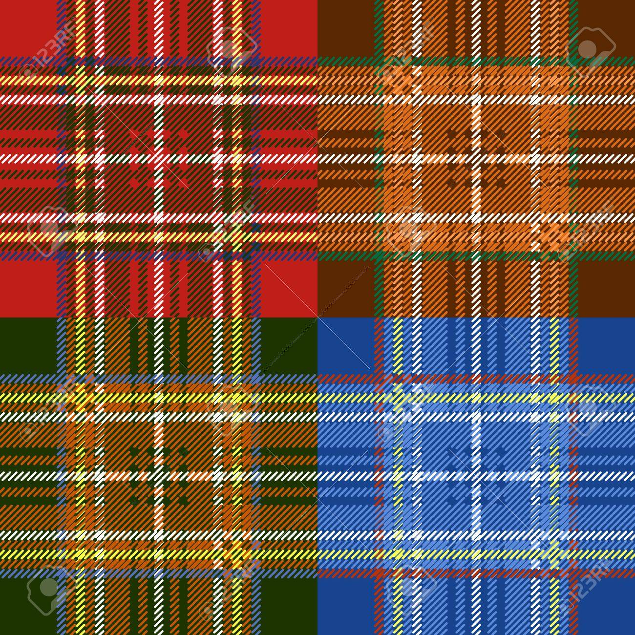 Classic scottish tartan fabric seamless pattern Stock Vector - 17755450