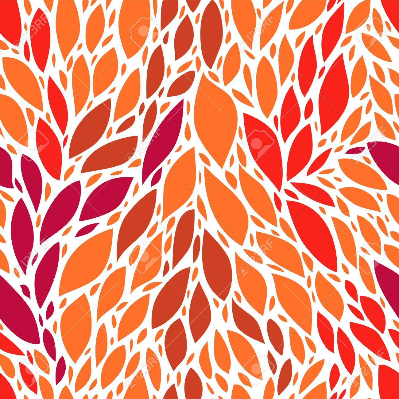 Tropical red leaves seamless pattern Stock Vector - 17755454
