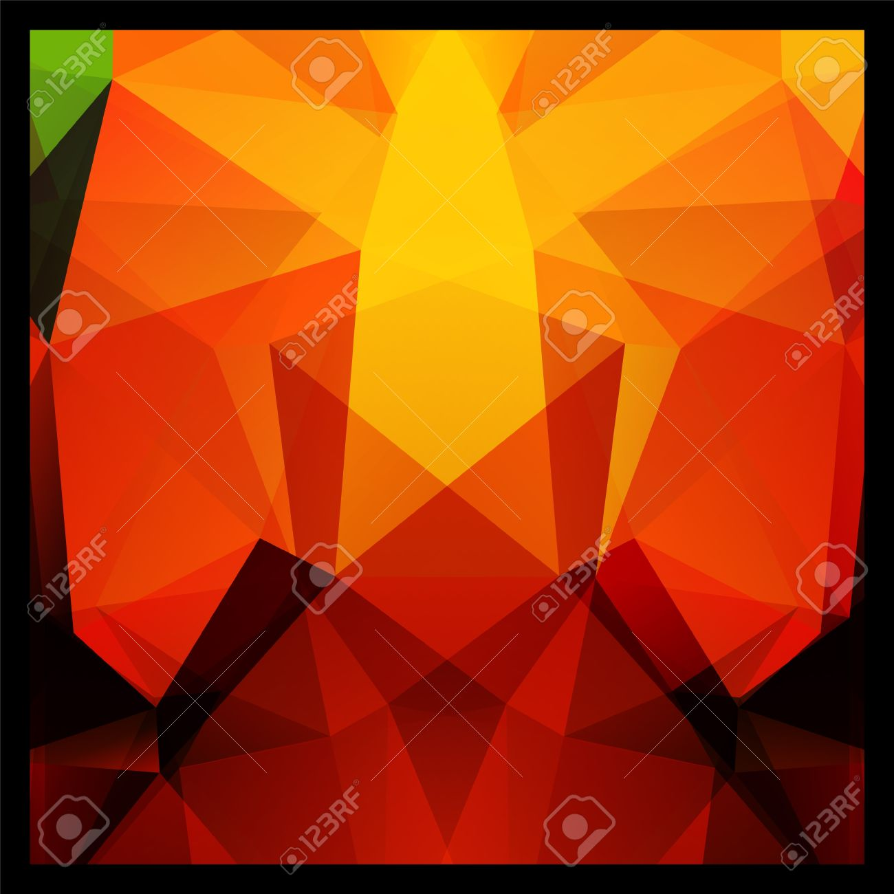Colorful Red Yellow And Black Abstract Geometric Polygon Background