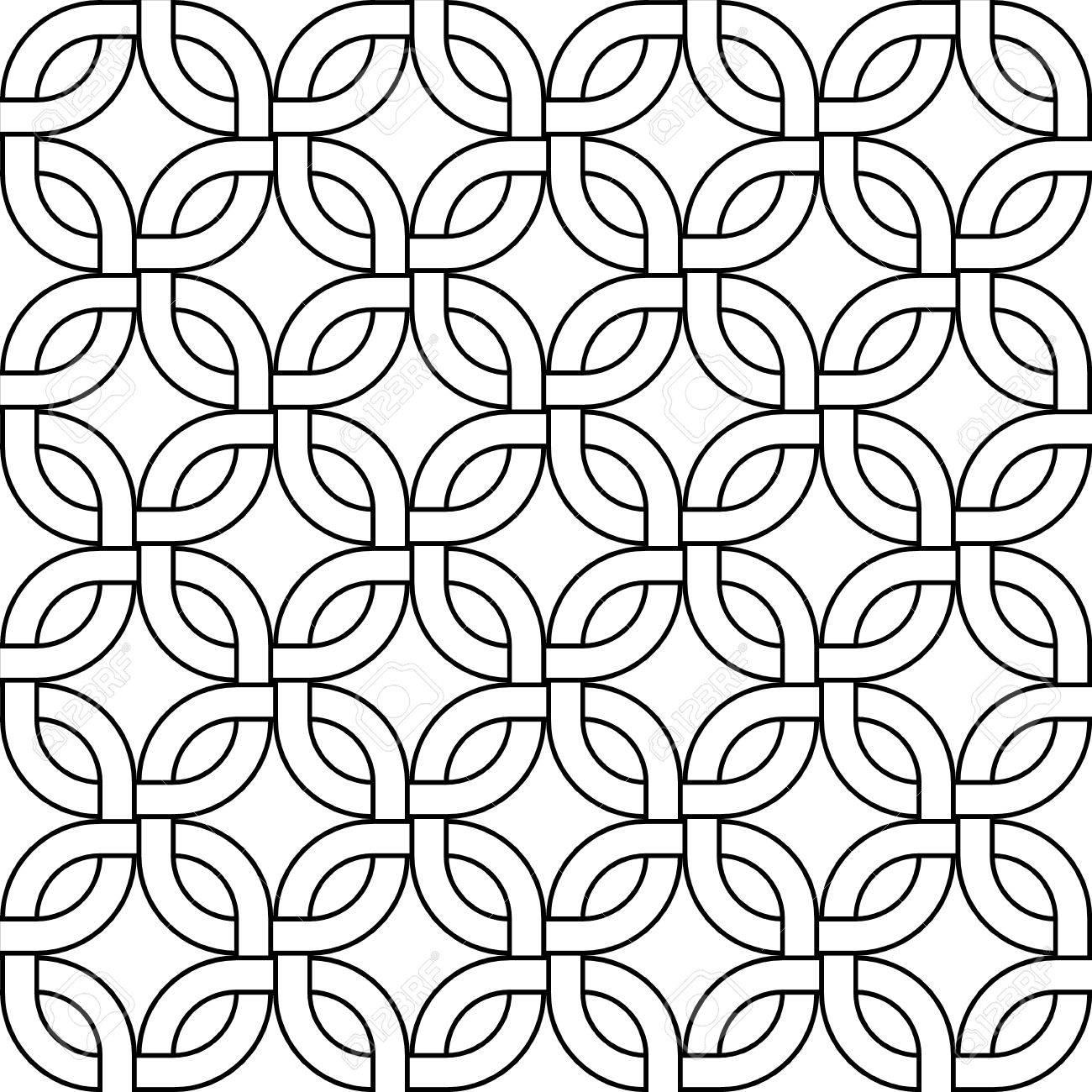 Geométrico Abstracto Teje Cuadrados Patrón Transparente En Blanco Y ...