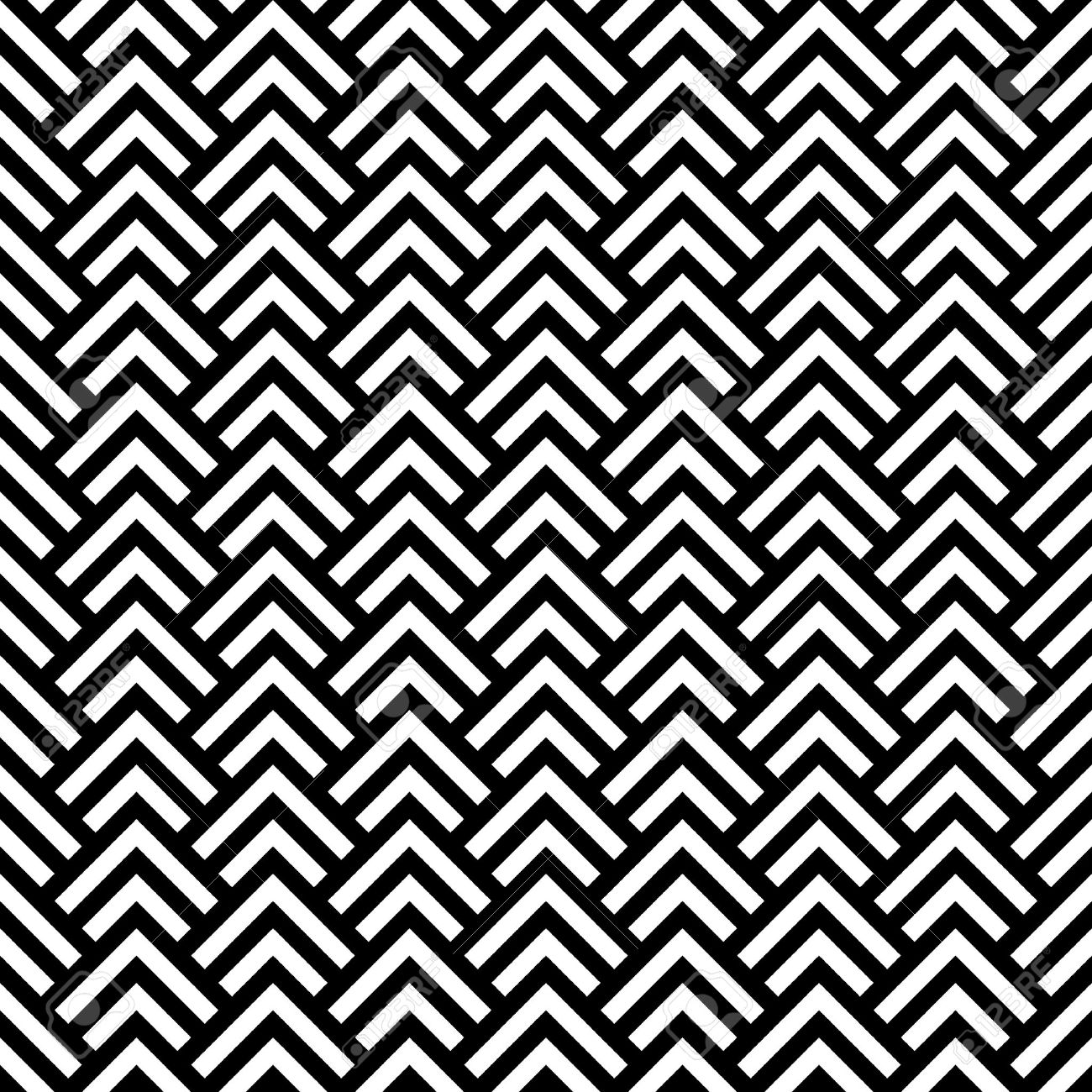 Black and white chevron geometric seamless pattern, vector - 24206013