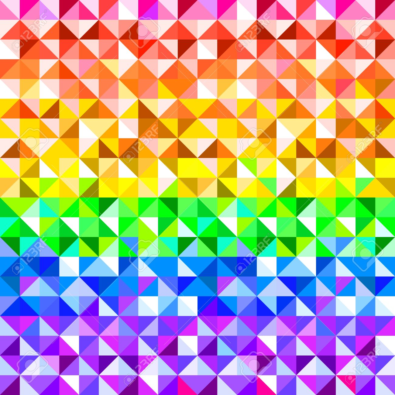 Colorful Rainbow Abstract Triangles Geometric Pattern Vector Royalty Free Cliparts Vectors And Stock Illustration Image 28073811