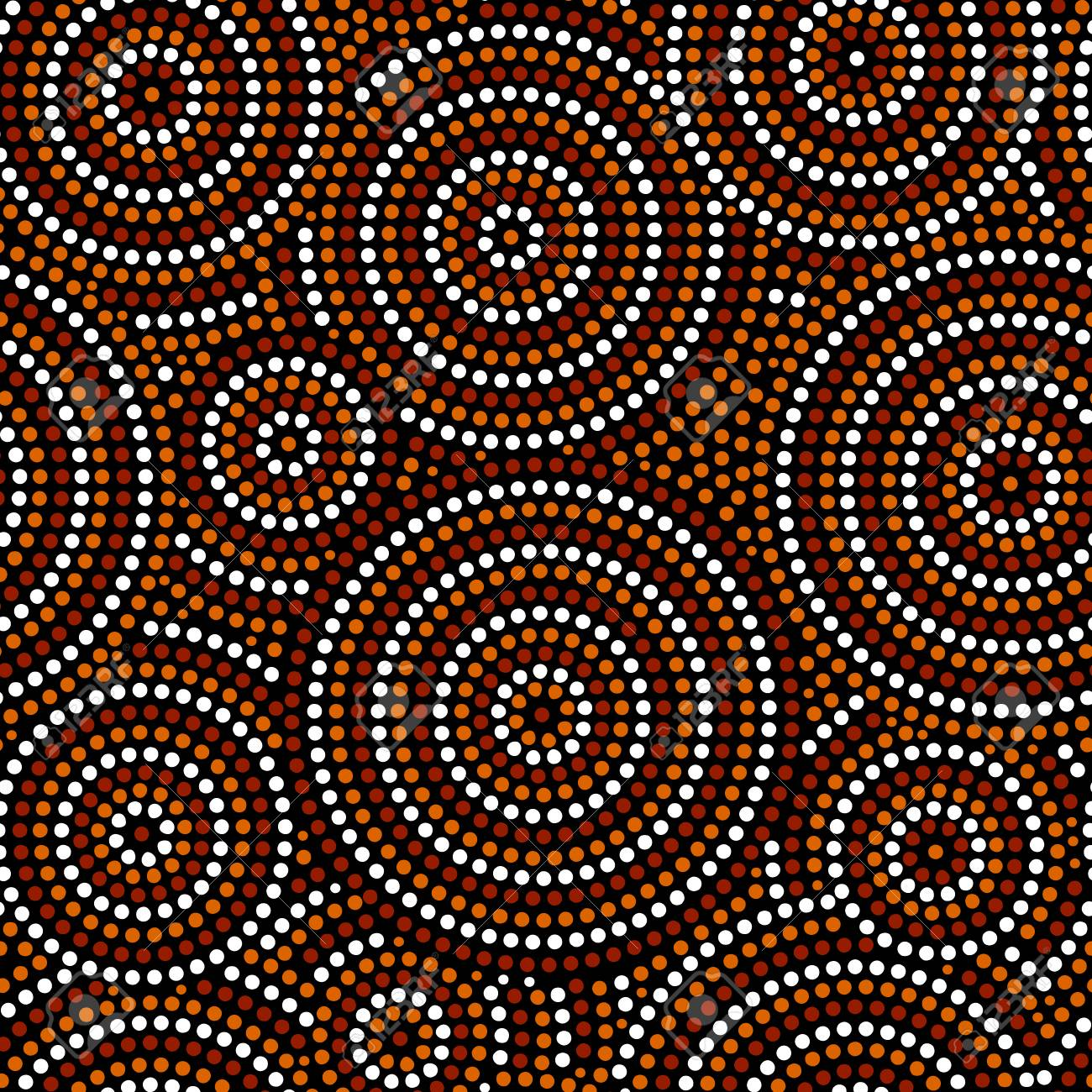 Australian Aboriginal Dot Art Circles Abstract Geometric Seamless