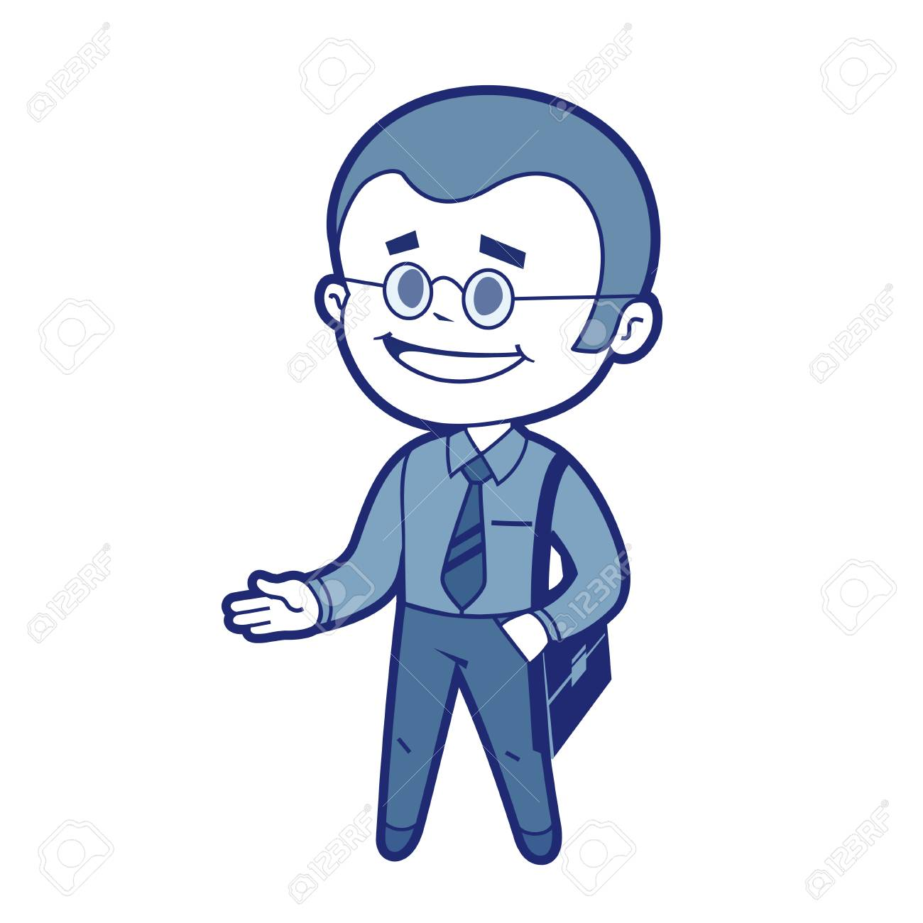 Character manager with business bag  Vector illustration Stock Vector - 27172938