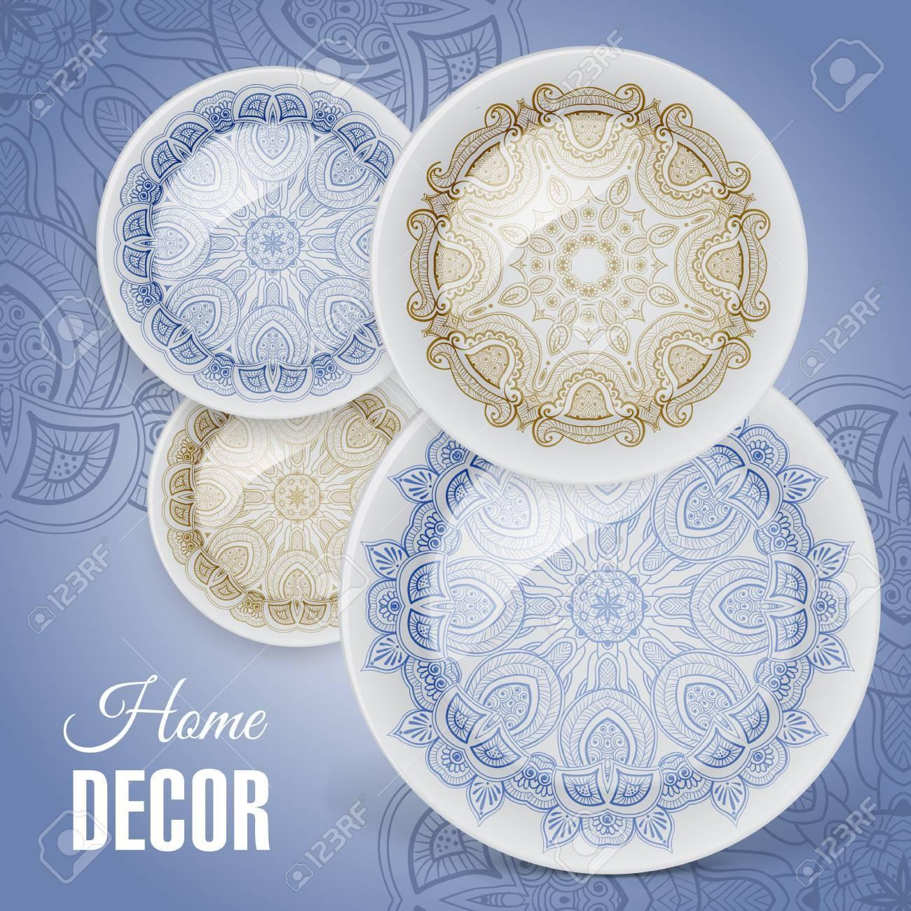 Werbung Banner Mit Dekorativen Keramik-Geschirr Für Geschenk-Shop ...