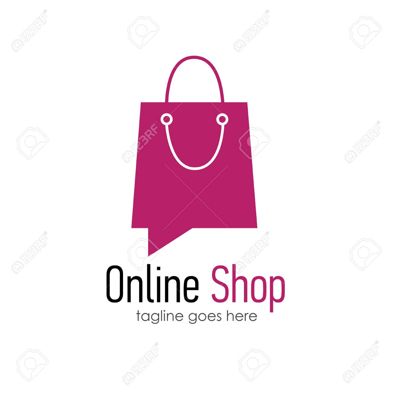 Online Shop Logo Design Template Royalty Free Cliparts Vectors And