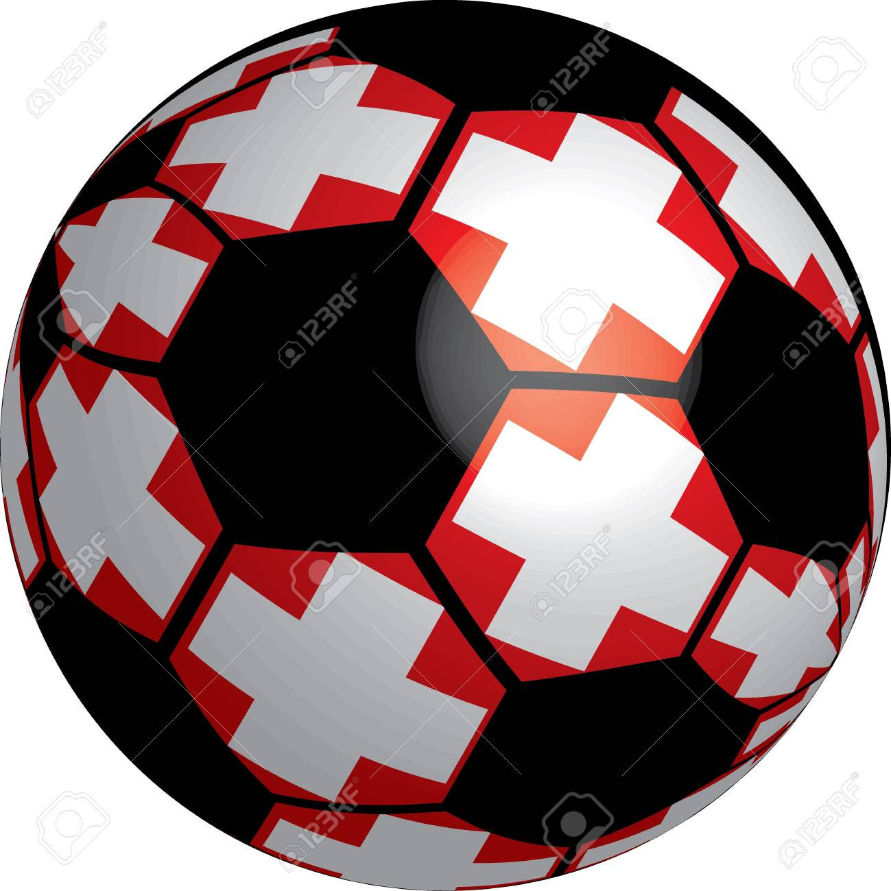 Switzerland flag soccer ball vector a set of flags Stock Photo - 11569071