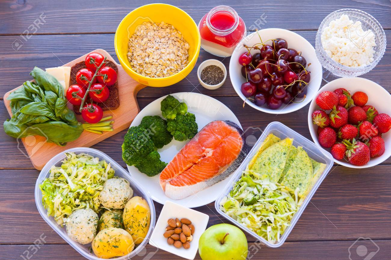 Health & Fitness Food In Lunch Boxes. Set Meal For The Whole.. Stock Photo,  Picture And Royalty Free Image. Image 74340108.