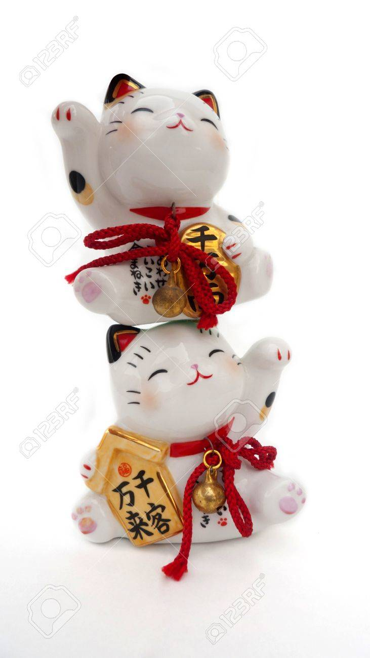 Two Lucky cat Stock Photo - 16857018